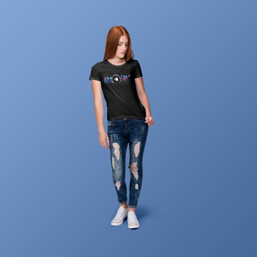 Produktbeispiel für das Product-Owner-Shirt mit Damenschnitt